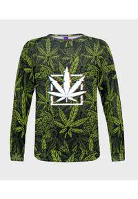 MegaKoszulki - Bluza damska fullprint Marijuana. Długość: długie. Styl: klasyczny