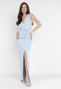 Born2be - Jasnoniebieska Sukienka Parthastos. Kolor: niebieski