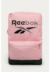 Reebok - Plecak. Kolor: różowy. Materiał: materiał, poliester. Wzór: nadruk #1
