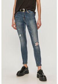 Vero Moda - Jeansy. Stan: podwyższony. Kolor: niebieski