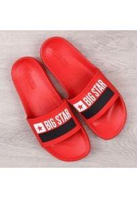 Big-Star - Klapki męskie gumowe plażowe czerwone Big Star GG174939. Okazja: na plażę. Kolor: czerwony. Materiał: tworzywo sztuczne, guma