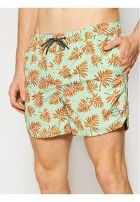 Jack & Jones - Jack&Jones Szorty kąpielowe Bali 12184801 Zielony Regular Fit. Kolor: zielony