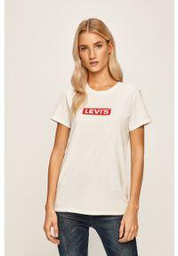 Biała bluzka Levi's® casualowa, na co dzień, z nadrukiem