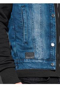 Czarna kurtka Ombre Clothing klasyczna, z kapturem