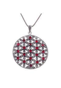 Braccatta - GOBI Srebrny naszyjnik wisior duży okrągły granaty 1,7 ct. Materiał: srebrne. Kolor: srebrny. Kamień szlachetny: granat