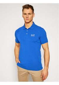 Niebieska koszulka polo EA7 Emporio Armani polo