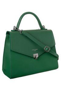 Zielona torebka DAVID JONES skórzana, elegancka
