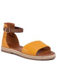 Żółte sandały Lasocki casualowe, na co dzień