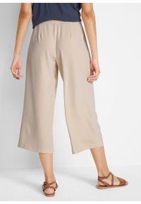 Spodnie culotte, dł. do łydki bonprix beżowo-szary. Kolor: szary
