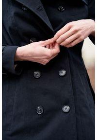Marie Zélie - Trencz Adria bawełna z elastanem czarny. Kolor: czarny. Materiał: bawełna, elastan. Sezon: lato. Styl: klasyczny #10