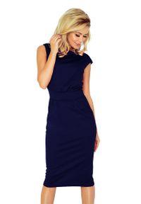 Niebieska sukienka Numoco midi, elegancka
