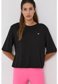 Chiara Ferragni - T-shirt bawełniany Logo Basic. Kolor: czarny. Materiał: bawełna. Wzór: aplikacja