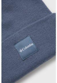 columbia - Columbia - Czapka. Kolor: niebieski. Materiał: dzianina