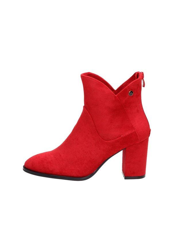 Czerwone botki Sergio Leone klasyczne, z cholewką