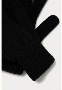 Calvin Klein Jeans - Rękawiczki. Kolor: czarny. Materiał: dzianina