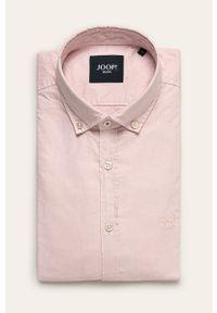 Różowa koszula JOOP! długa, casualowa, na co dzień, button down