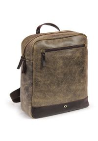 Skórzany plecak męski DAAG Jazzy Risk Up 170 brązowy. Kolor: brązowy. Materiał: skóra