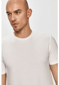 Biały t-shirt Trussardi Jeans klasyczny