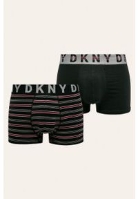 Czarne majtki DKNY z nadrukiem