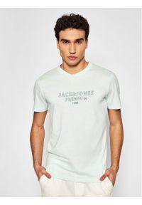 Jack & Jones - Jack&Jones PREMIUM T-Shirt Blaedgar 12187986 Zielony Regular Fit. Kolor: zielony
