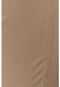 Szare spodnie materiałowe Stefanel klasyczne, z podwyższonym stanem