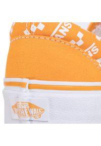Pomarańczowe trampki Vans z cholewką