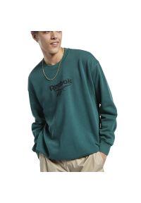 Bluza Reebok z aplikacjami, sportowa, długa