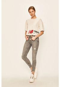 Szare jeansy Noisy may w kolorowe wzory