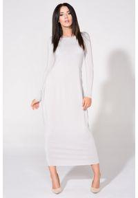 Szara sukienka dresowa Tessita maxi