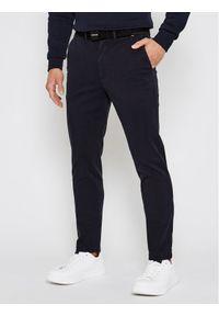 Calvin Klein Chinosy K10K106894 Granatowy Slim Fit. Kolor: niebieski