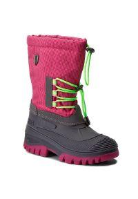 Różowe buty zimowe CMP z cholewką