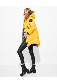 FLO&CLO - Żółta kurtka puchowa Elly 100. Kolor: żółty. Materiał: puch
