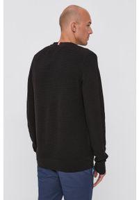 TOMMY HILFIGER - Tommy Hilfiger - Sweter. Okazja: na co dzień. Kolor: czarny. Materiał: dzianina, bawełna. Długość rękawa: długi rękaw. Długość: długie. Styl: casual