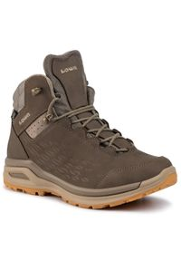 Zielone buty trekkingowe Lowa trekkingowe, z cholewką, Gore-Tex