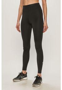 Czarne legginsy Nike gładkie, z podwyższonym stanem