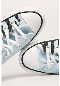 Turkusowe tenisówki Converse na obcasie, na średnim obcasie, na sznurówki #5