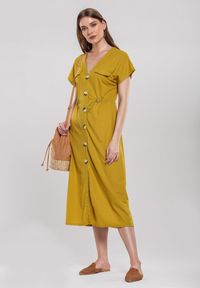 Renee - Żółta Sukienka Obstructor. Kolor: żółty