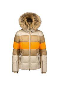 Beżowa kurtka narciarska Bogner