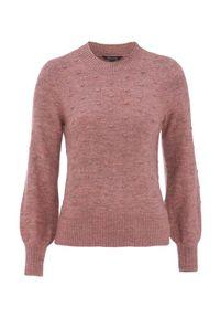 Różowy sweter Happy Holly melanż