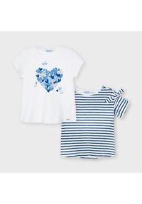 Mayoral Komplet 2 t-shirtów 3009 Biały Regular Fit. Kolor: biały