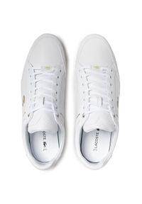 Lacoste - Sneakersy LACOSTE - Chaymon 0721 3 Cma 7-41CMA006321G Wht/Wht. Kolor: biały. Materiał: skóra ekologiczna, materiał. Szerokość cholewki: normalna. Styl: klasyczny