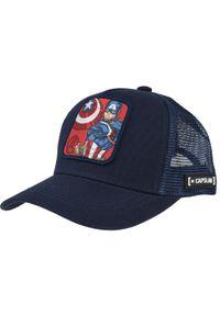 Niebieska czapka z daszkiem CapsLab z motywem z bajki