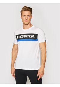 Starter T-Shirt SMG-013-BD Biały Regular Fit. Kolor: biały