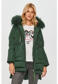 Zielona kurtka MAX&Co. z kapturem