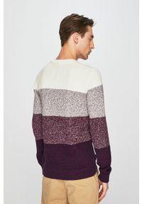 Fioletowy sweter medicine casualowy, melanż