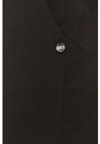 Czarne spodnie materiałowe Scotch & Soda z podwyższonym stanem, gładkie