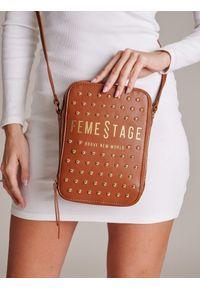 Brązowa torebka FEMESTAGE Eva Minge z aplikacjami, zdobiona