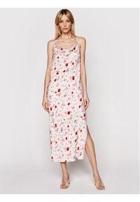 Samsoe & Samsoe - Samsøe Samsøe Sukienka letnia Apples Ml F21100108 Różowy Slim Fit. Kolor: różowy. Sezon: lato #5