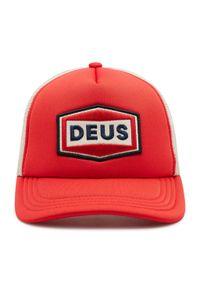 Deus Ex Machina - Czapka z daszkiem DEUS EX MACHINA - Speed Stix Trucker DMS2071019 Red. Kolor: czerwony. Materiał: poliester, materiał