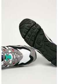 Szare sneakersy New Balance z cholewką, z okrągłym noskiem, na sznurówki